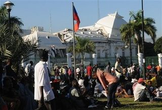 Port au prince presidential palace after quake