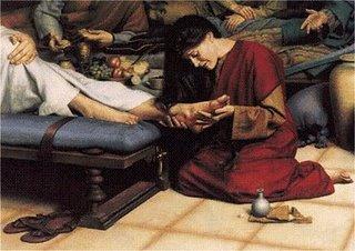 Anointing of feet of Jesus