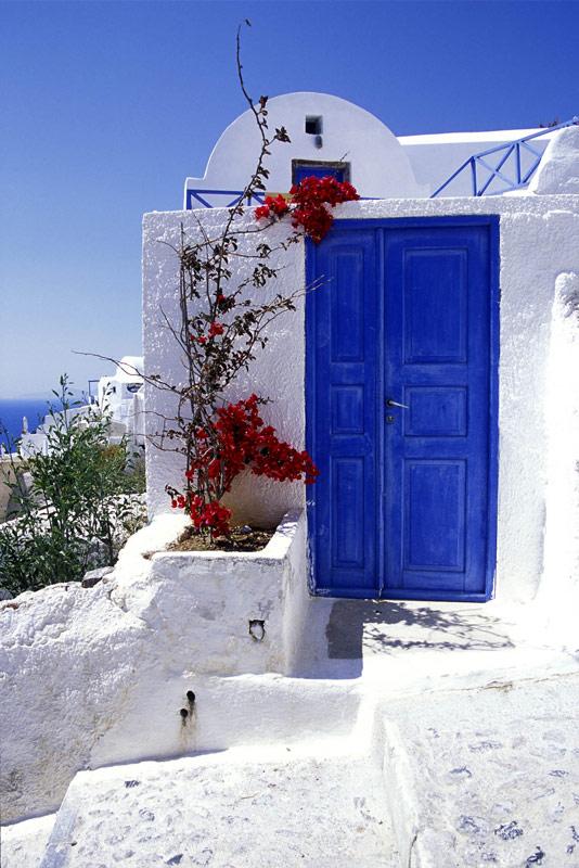 Santorini door
