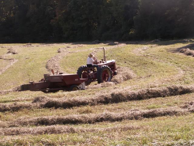 Hay baling fall