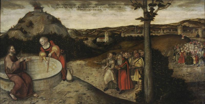 Lucas_Cranach_d.Ä._-_Christus_und_die_Samariterin_am_Jakobsbrunnen_Kronach
